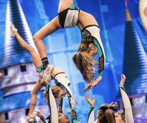 bow, cheerleader, and girl image