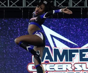 cheer, flyer, and stunt image