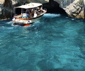 boat, italy, and capri image