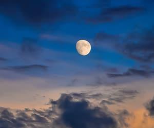 lua, moon, and paisagem image