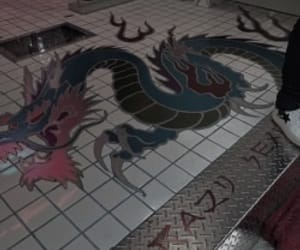 aesthetic, dragon, and red image