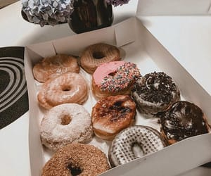 donut, food, and sweets image