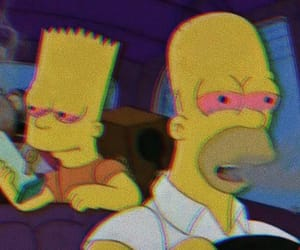 weed, simpsons, and bart image