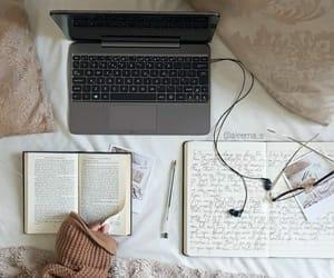 book, cozy, and earphones image