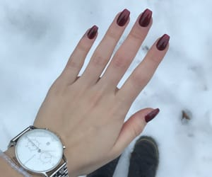 dr. martens, red nails, and acryl nails image