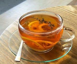 drink, tea, and food image