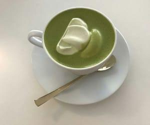 drink, food, and matcha latte image