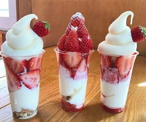 food, strawberry, and photography image