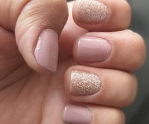 nails, sparkle, and goldens image