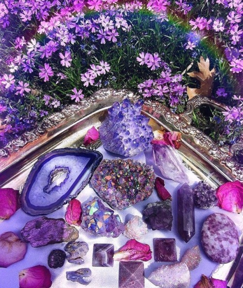 aesthetic, amethyst, and crystal image