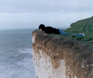 cliff, girl, and photography image