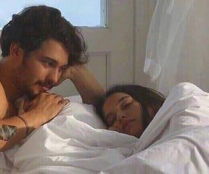 couple, sleep, and love image