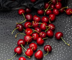 cherry, food photography, and presentation image
