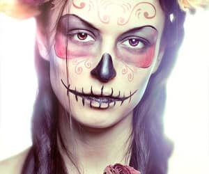 creative, makeup artist, and skeleton image