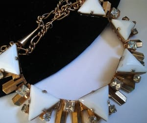 etsy, triangle necklace, and milk glass jewelry image