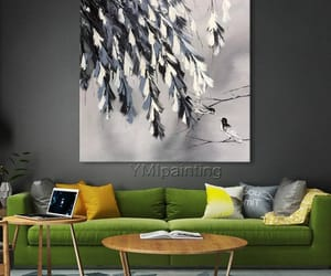 abstract art, Abstract Painting, and dinning room image