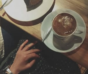cake, coffe, and dress image