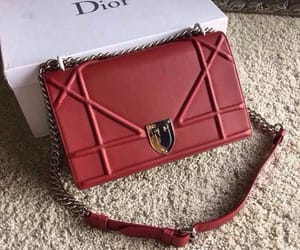 bag, red, and dior image