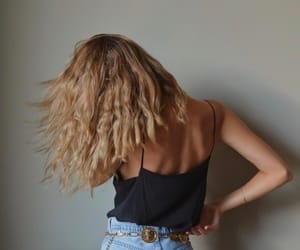 back, gold, and hair image