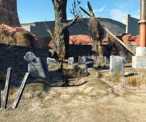 amusement park, cemetery, and fallout image