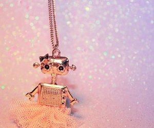 girl, pink, and robot image