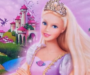 art, barbie, and barbie as rapunzel image