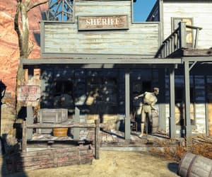 building, mannequin, and sheriff image