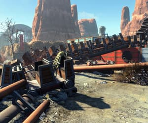 amusement park, fallout, and rollercoaster image