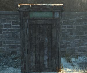 fallout, nuka world, and outhouse image