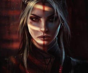 fantasy, illustration, and warrior image