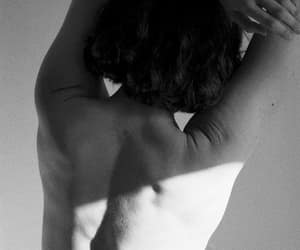 aesthetic, black and white, and body image