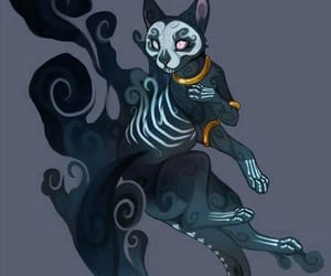 cat, fantasy, and art image