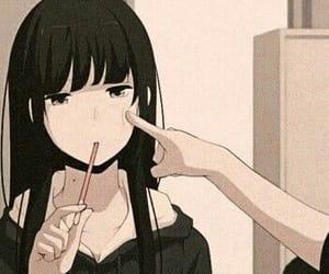 anime, anime girl, and long hair image