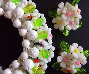 etsy, flower earrings, and white earrings image