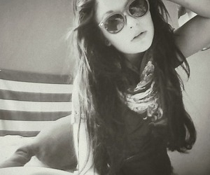 b & w, girl, and hipster image