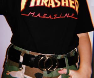 camo, outfit, and thrasher image