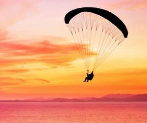 paragliding, pretty, and shadow image