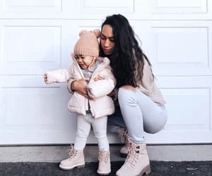 daughter, family, and fashion image