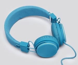 aesthetic, blue, and headphones image