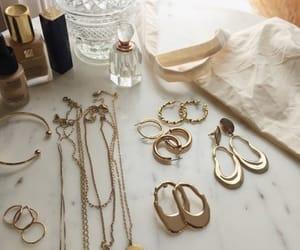 feminine, gold, and jewlery image