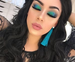 beautiful, eyeshadow, and glittery image
