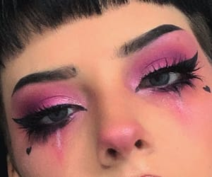pink, makeup, and alternative image