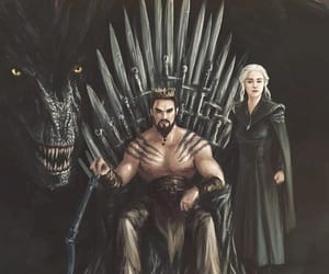 couple, ending, and khal drogo image