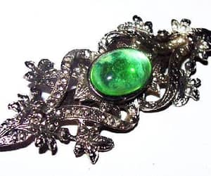 etsy, mint green color, and green stone brooch image