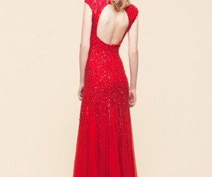 dress, red, and elie saab image