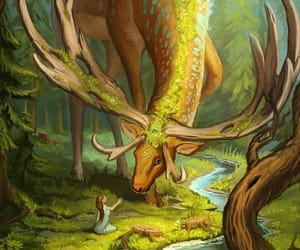 animal, fantasy, and nature image