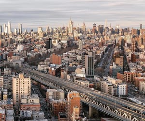 aerial photography, downtown, and new york city image