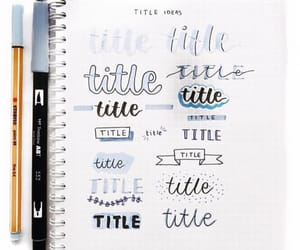 headers, bullet journal, and title ideas image