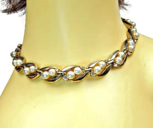 etsy, pearl necklace, and bridal jewelry image