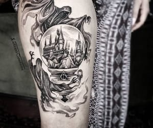 harry potter, Tattoos, and harry potter tattoo image